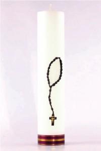 Candela d'altare - rosario [O-18]