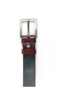 Cintura in pelle nera-rosa...